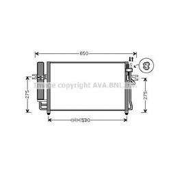 Радиатор кондиционера (Ava) HY5087