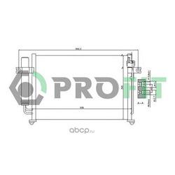 Радиатор кондиционера (PROFIT) PR1303C1