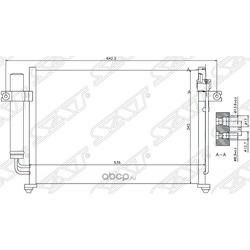 Радиатор кондиционера (Sat) STHY083940