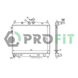 Радиатор охлаждения (PROFIT) PR1810A1
