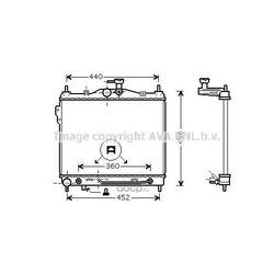 Радиатор охлаждения двигателя (Ava) HY2102