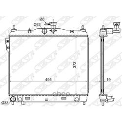 Радиатор трубчатый (Sat) SGHY0008MT1