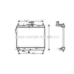 Радиатор, охлаждение двигателя (Ava) HY2101