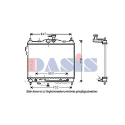 Радиатор, охлаждение двигателя (AKS DASIS) 510029N