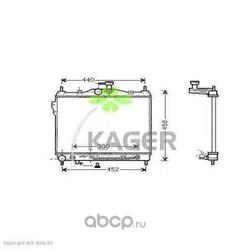 Радиатор, охлаждение двигателя (KAGER) 311256