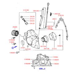 Сальник (Hyundai-KIA) 2142121030