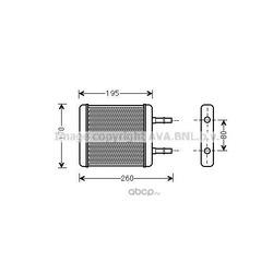 Теплообменник, отопление салона (Prasco) HY6216