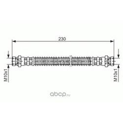 Тормозной шланг (Bosch) 1987476019