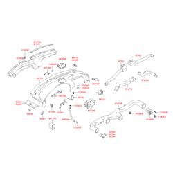 Антишумовая прокладка панели багажной двери (Hyundai-Kia) 1495508201