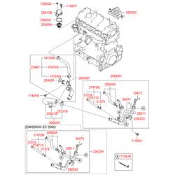 Уплотнительное кольцо трубки топливной системы (Hyundai-Kia) 2543227000