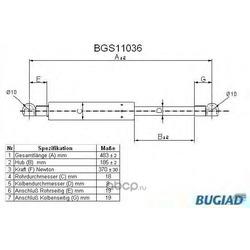 Упругий элемент, крышка багажника (BUGIAD) BGS11036