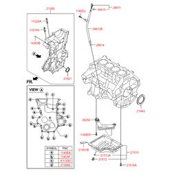 Уплотнительное кольцо масляного насоса двигателя (Hyundai-KIA) 2142103001