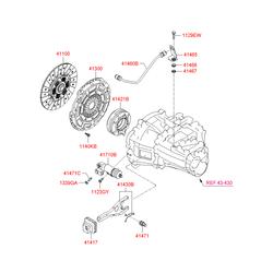 Цилиндр сцепления рабочий (Hyundai-Kia) 4171023310