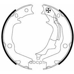 Комплект тормозных колодок, стояночная тормозная система (Mintex) MFR651