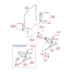 Окантовка рукоятки стеклоподъемника стекла двери (Hyundai-Kia) 8264133002LT