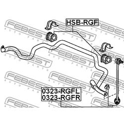 Тяга стабилизатора передняя правая (Febest) 0323RGFR