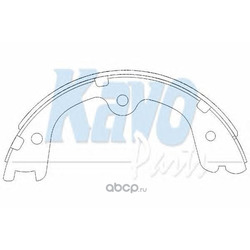 Комплект тормозных колодок (kavo parts) KBS7404
