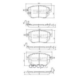 Комплект тормозных колодок, дисковый тормоз (Nipparts) J3601092
