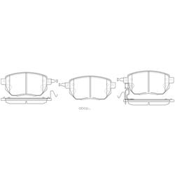 Колодки тормозные дисковые (FIT) FP0969