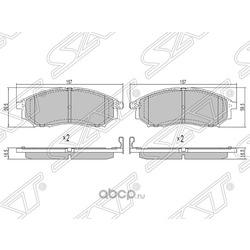 Колодки тормозные передние (Sat) STAY040NS034