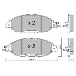 Комплект тормозных колодок, дисковый тормоз (Aisin) BPNI1008