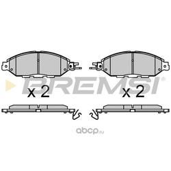 Комплект тормозных колодок, дисковый тормоз (BREMSI) BP3720