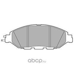 Комплект тормозных колодок, дисковый тормоз (Delphi) LP3278