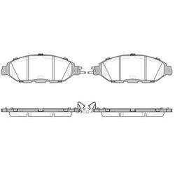 Комплект тормозных колодок, дисковый тормоз (KAWE) 151815