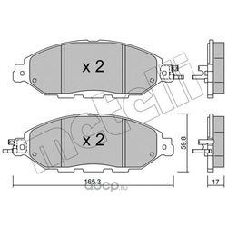 Комплект тормозных колодок, дисковый тормоз (Metelli) 2210450