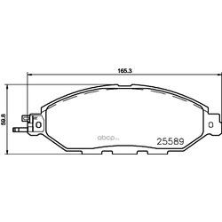 Комплект тормозных колодок, дисковый тормоз (Mintex) MDB3708