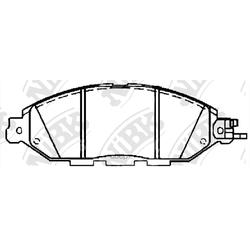 Колодки тормозные дисковые (NiBK) PN50001