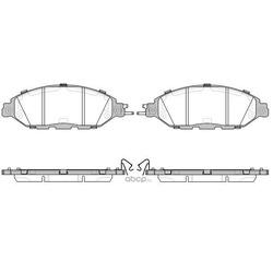 Комплект тормозных колодок, дисковый тормоз (Remsa) 151815