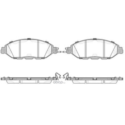 Комплект тормозных колодок, дисковый тормоз (Road house) 2151815