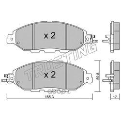 Комплект тормозных колодок, дисковый тормоз (Trusting) 10740