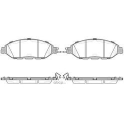 Комплект тормозных колодок, дисковый тормоз (WOKING) P1418315