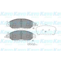 Комплект тормозных колодок, дисковый тормоз (kavo parts) BP6641