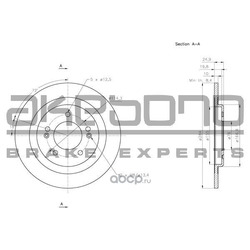Тормозной диск (Akebono) BN0600