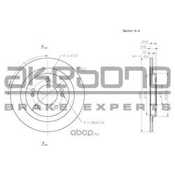 Тормозной диск (Akebono) BN0600E