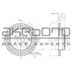 Тормозной диск (Akebono) BN0864E