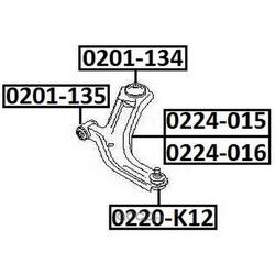 Сайлентблок переднего рычага задний (ASVA) 0201134