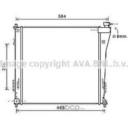 Радиатор, охлаждение двигателя (Ava) HY2303