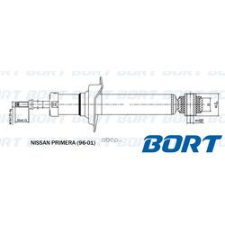 Стойка амортизационная газомасляная задняя (BORT) G41238172