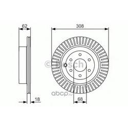 Тормозные диски (Bosch) 0986479533