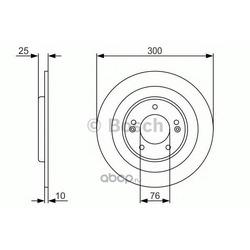 Тормозной диск (Bosch) 0986479A46