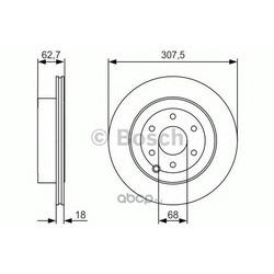 Тормозной диск (Bosch) 0986479R21