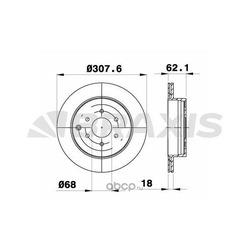 Тормозной диск (BRAXIS) AE0592