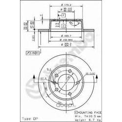 Тормозные диски (Brembo) 08937110