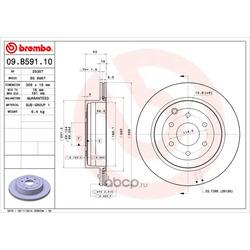 Тормозные диски (Brembo) 09B59110