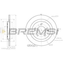 Тормозной диск (BREMSI) DBC200S