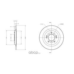 Тормозной диск (Delco remy) RAD1984C